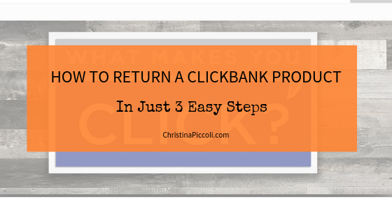 How to Return a ClickBank Product