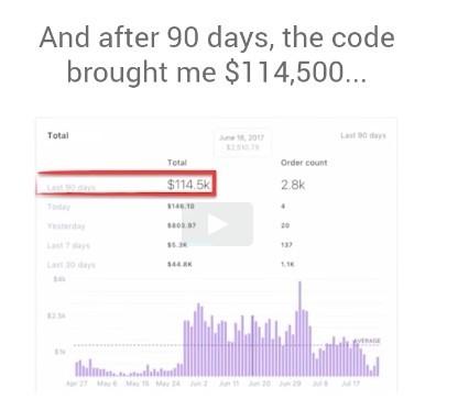 Ecom Cash Code Sales Video