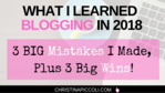 What I Leaned Blogging in 2018