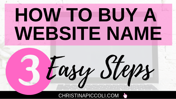 How to Buy a Website Name