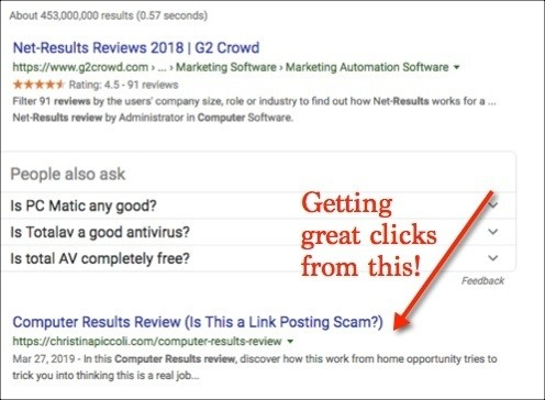 SEO Affiliate Mastery Review - Results