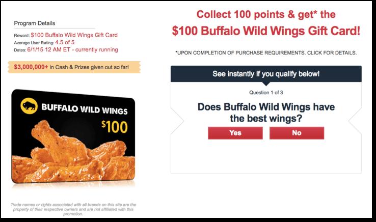 Kids Earn Cash Buffalo Wild Wings Promo