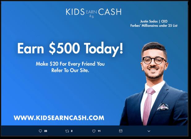 Kids Earn Cash Fake CEO