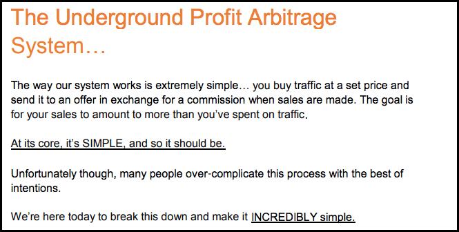 Underground Profit Arbitrage