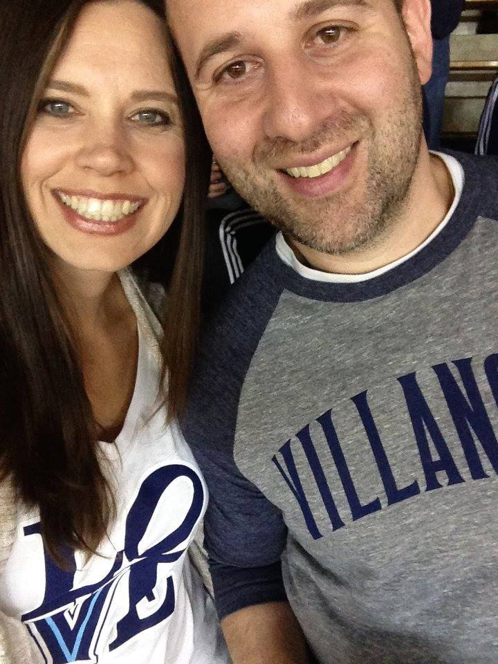 Nick and I at a Villanova basketball game.