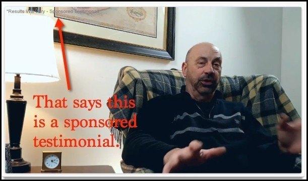 Sponsored testimonial