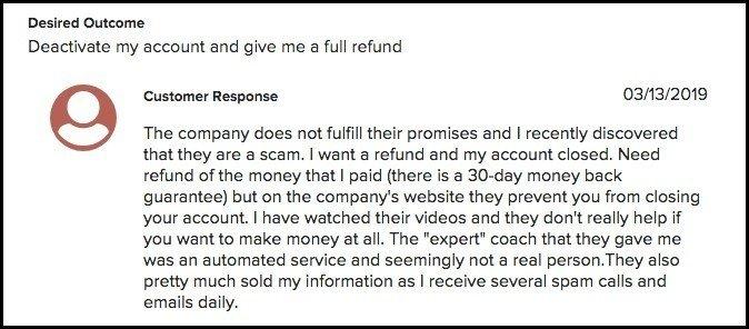 Business Brat review - My Ecom Club complaint 1