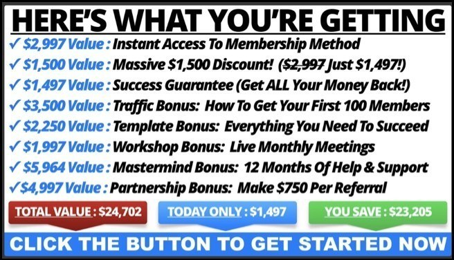 Membership Method Review - Bonuses