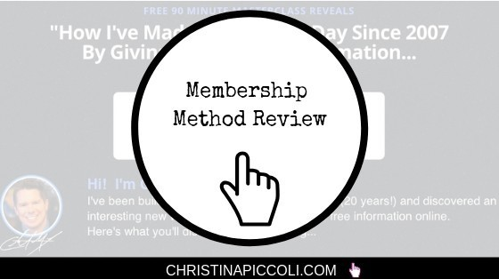 Membership Method Membership Sites Tutorial