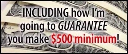 You can make $500 Guaranteed
