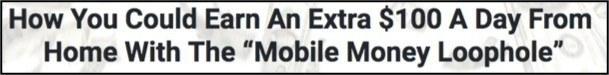 Headline for Mobile Money Loophole