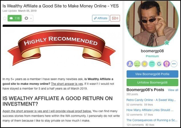 Wealthy Affiliate Success Stories 1