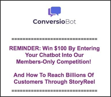 Conversiobot best chatbot competition