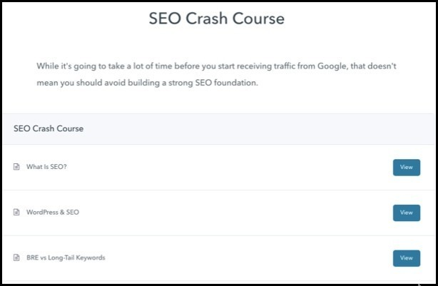 Blog Revenue Engines SEO Crash Course Module