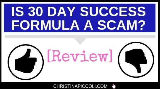 Is 30 Day Success Formula a scam?