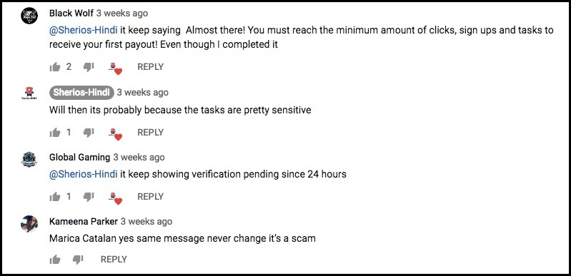 Even more YouTube commenters said they haven't been paid.