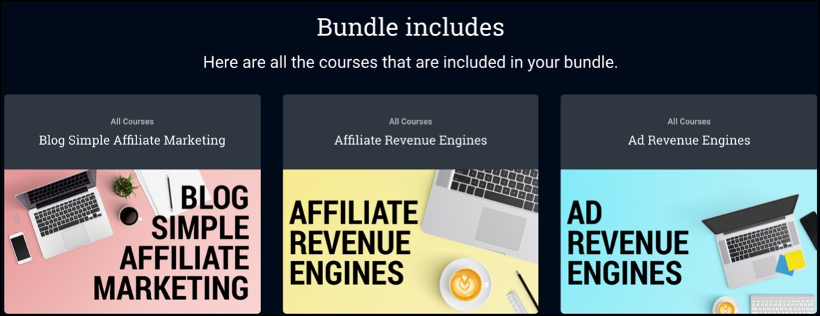 You can get a bundle of courses for $349.