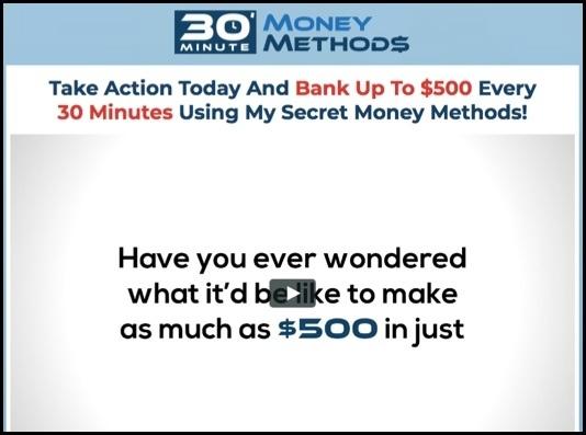 30 Minute Money Methods homepage
