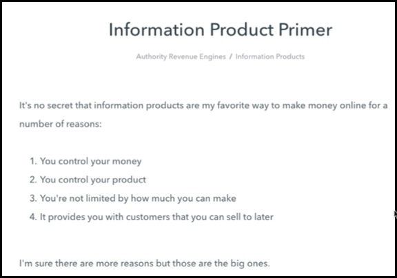 Information products are a great way to make money.