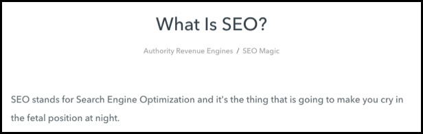 Authority Revenue Engines - What is SEO?