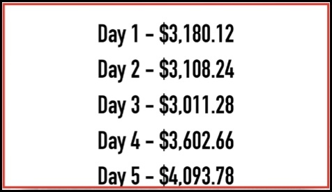 Week 1 payments are very large and unbelievable.