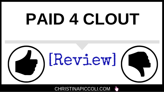 Paid 4 Clout Review