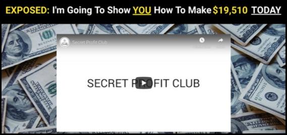 Secret Profit Club homepage