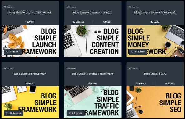 Blog Simple Framework courses