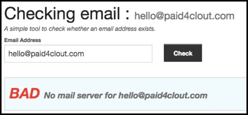Paid 4 Clout email won't work.