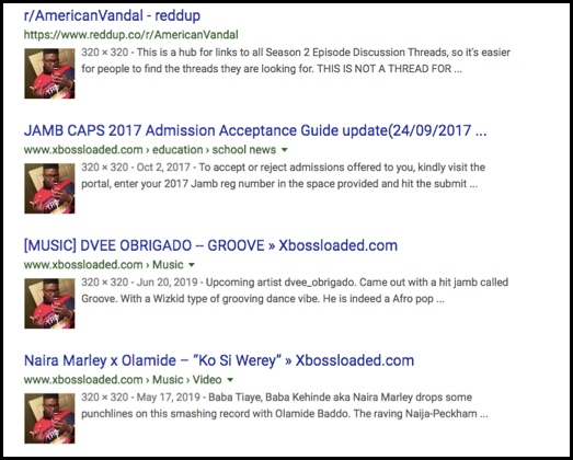 Darrius shows up in many Google searches.