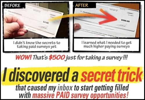 There are no secret tricks to Take Surveys for Cash