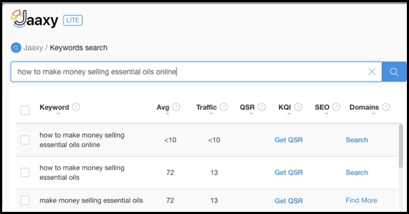 Jaaxy can show you keywords to use.
