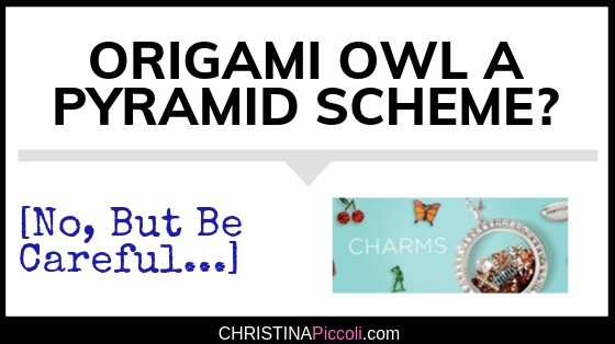 Is Origami Owl a pyramid scheme?