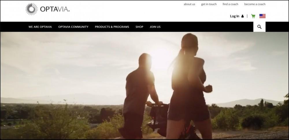 Optavia's homepage