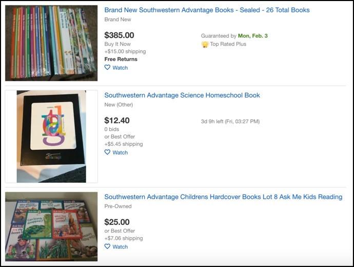 Southwestern Advantage book ebay