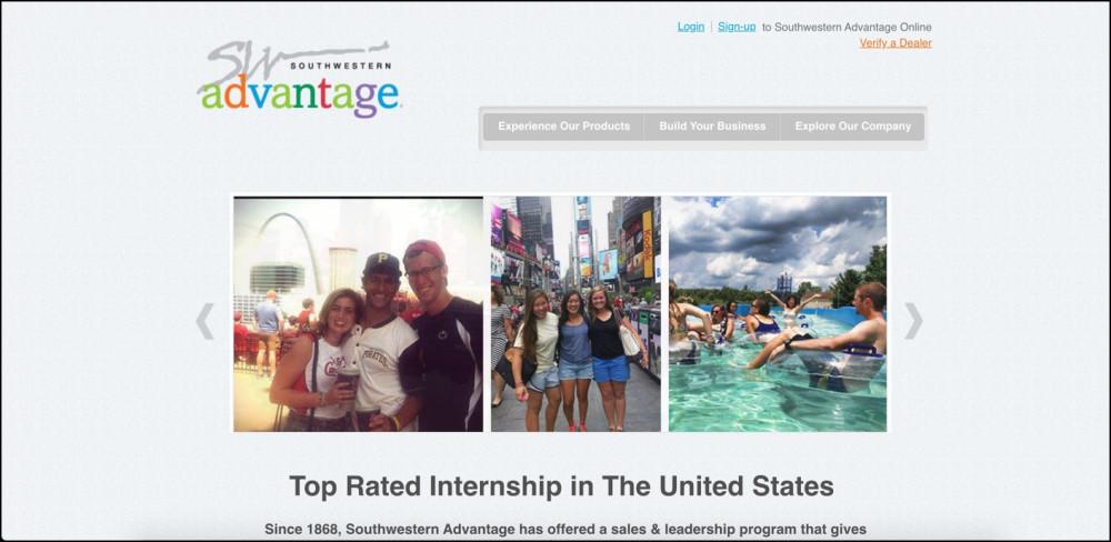 Southwestern Advantage homepage