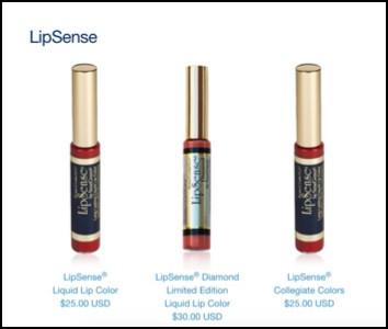 The famous LipSense