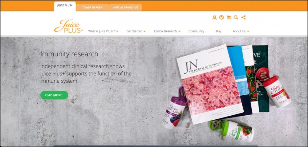 Juice Plus+ Homepage
