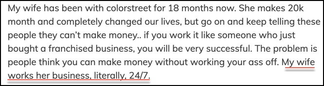 You have to work 24/7 to make money