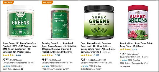 Green Greens alternatives
