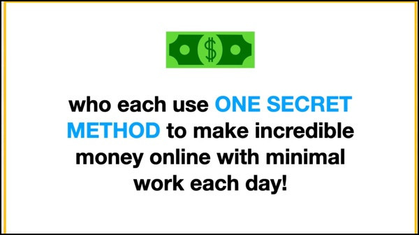 Passive Profits System uses a secret method