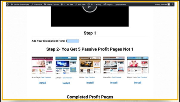 You get 5 ready-made websites.